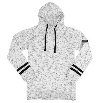 Supra Ladies Melange Stripe Hoodie - White / Black