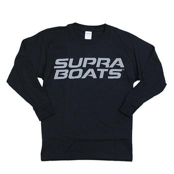 Supra L/S Youth Logo Tee - Black