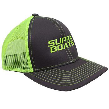 Supra Platinum Cap - Charcoal / Neon Yellow