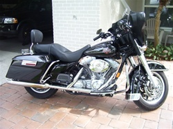Harley Davidson FLHT Windshield by Precision Plastic Products, Inc.