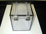 Custom Built Lexan Box with Removable Locking Lid