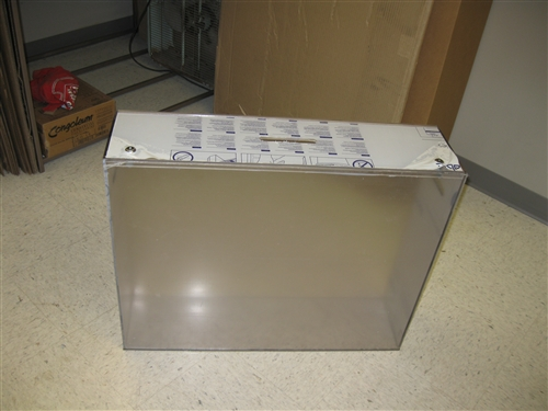 """Custom Made Lexan Polycarbonate Box with Hinged Lid 1/4"""" Thick"""