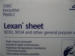 "9"" x 48"" Clear Polycarbonate (Lexan) - 3/8"" Thick"