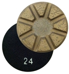 "Typhoon 3"" Wet/Dry Metal Floor Disc, 24 Grit"