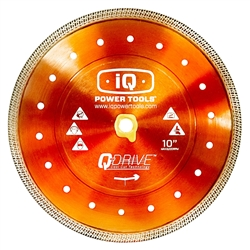 "iQ Power Tools iQTS244 10"" Q-Drive Combination Blade- StoneTooling.com"