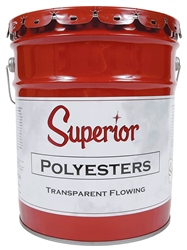 Superior Polyester Transparent Adhesive - Flowing - StoneTooling.com