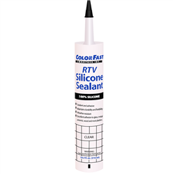 Color Fast 100% Silicone RTV Sealant and Adhesive - Clear - StoneTooling.com