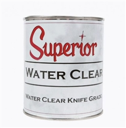 Superior Polyester Water Clear Adhesive - Knife Grade - StoneTooling.com