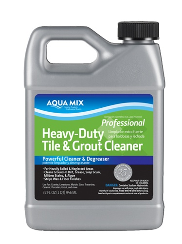 Aqua Mix Heavy Duty Tile Grout Cleaner Quart Gallon Stonetooling Larger Photo Email A Friend