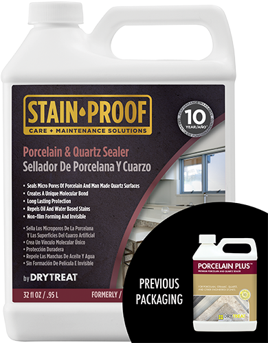 Dry-Treat Porcelain Plus Porcelain & Quartz Sealer- StoneTooling.com