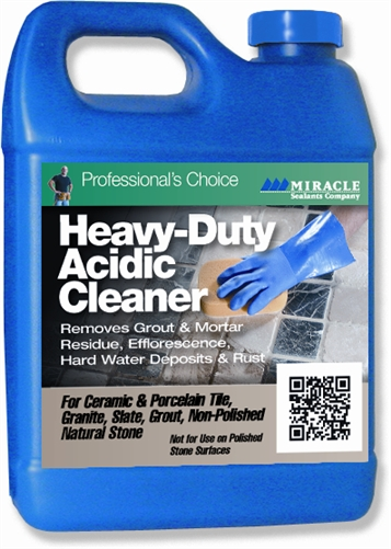 Heavy Duty Acidic Cleaner Qrt Miracle Sealants