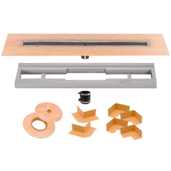 Schluter Kerdi-Line Linear Channel Body - Center Drain Outlet - StoneTooling.com