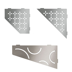 Schluter-SHELF-E - Corner Shelf for Tiled Walls- StoneTooling.com