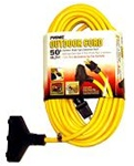 Outdoor Triple Tap 50' Extension Cord