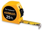 Komelon Tradesman Tape Measure, 25ft- StoneTooling.com