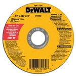 "Dewalt 4-1/2"" Thin Metal Cut-Off Wheel Type 1 DW8062"