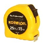 Komelon Tape Measure, 25ft