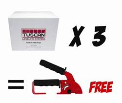 Tuscan Leveling System, 3 Boxes of 1000 Strap Package with FREE Standard Installation Tool