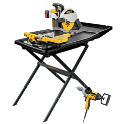 DeWalt D24000S Tile Saw with Drill DW130V- StoneTooling.com