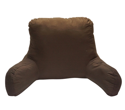 Microfiber Firm Campus Bedrest - Dark Brown Items