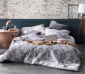 Twin XL Comforter Ornate Design Tavian Dorm Comforter