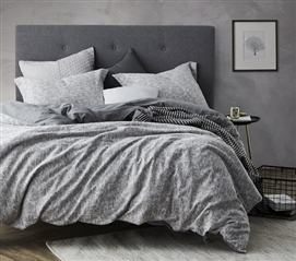 Cracked Earth Gray Twin XL Bedding Gray Dorm Duvet Cover