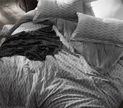 Dorm Room Comforter Twin XL Bedding Mattina Gray