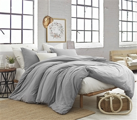 Best Twin XL Dorm Bedding High Quality Natural Loft College Comforter Alloy Gray Dorm Essentials