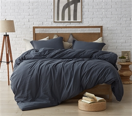Oversized Twin XL Comforter for Dorm Bed Soft and Thick Natural Loft Faded Black High Quality College Bedding