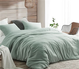 Natural Loft Twin XL Comforter - Iceberg Green