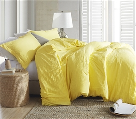 Luxury Comforter Natural Loft College Comforter Limelight Yellow Twin Extra Long Bedding