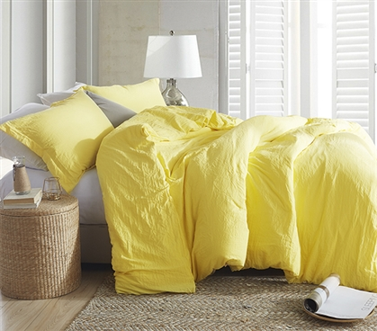 Natural Loft Twin XL Comforter - Limelight Yellow