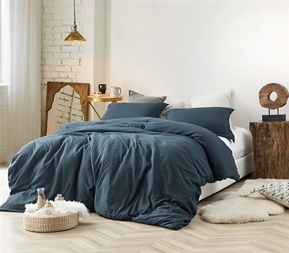 Natural Loft Twin XL Comforter - Nightfall Navy