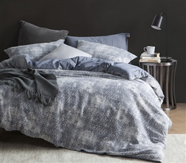 Iron Blue Fog Twin Extra Long Duvet Cover Blue College Bedding