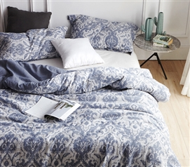 College Bedding Steel Blue Twin XL Comforter Sa Rembo
