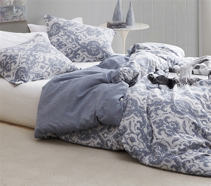 Sa Rembo Steel Blue College Dorm Duvet Cover Extra Long Twin Bedding