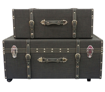 Black Texture - Collegiate Trunks Dorm Trunks Dorm Storage Solutions