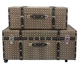 Black Almond Texture - Collegiate Trunks Storage Trunk With Wheels