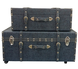 Distressed Navy Texture - Collegiate Trunks Dorm Room Storage Dorm Room Decor