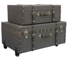 Multi Gray Texture - Collegiate Trunks Dorm Storage Solutions Dorm Essentials