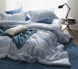 Twin XL Comforter Junction Blue College Bedding