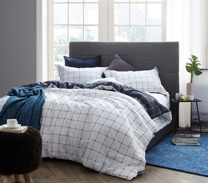 Twin XL Comforter Porter Bay White Twin XL Bedding for Dorm Room