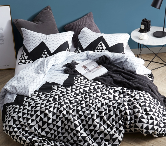 Black And White Twin Xl Bedding Chevron Peaks College Dorm Room