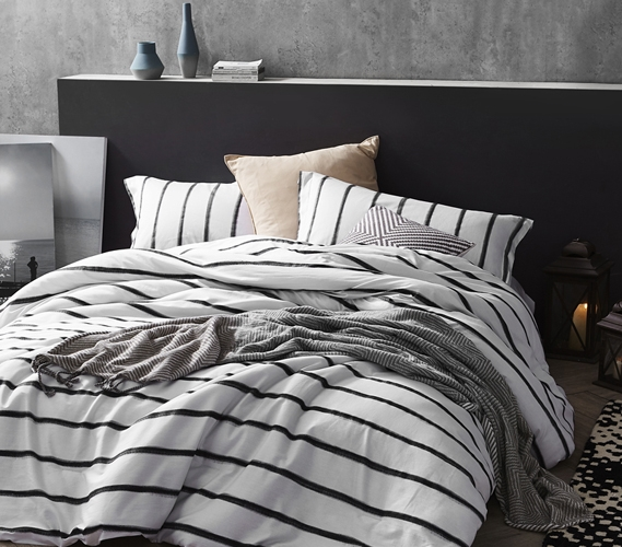 College Dorm Room Bedding Black And White Extra Long Twin