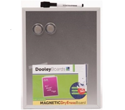 Useful Dorm Item - Magnetic Dry Erase Board - Silver - Supply For College