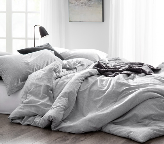 Gray College Dorm Room Comforter Light Gray Extra Long Twin