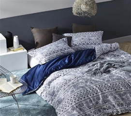 Neiva Navy College Bedding Twin XL Duvet Cover