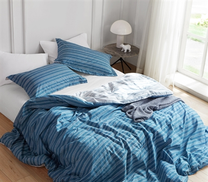 Comfortable Twin XL Bedding Blue Twin XL Comforter Faded Stripes