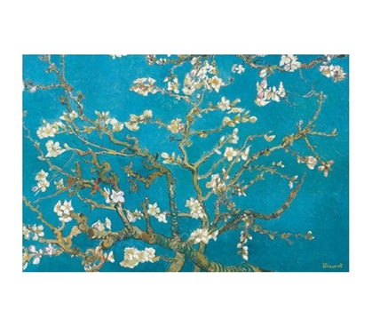 Almond Branches in Bloom - Vincent Van Gogh Poster beautiful floral painting by Vincent Van Gogh on dorm room size poster