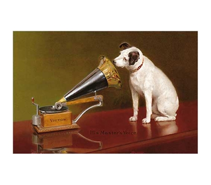 Decorate Your Dorm - His Master's Voice Poster - Brings Class To College Decorations